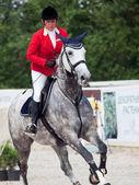 SAINT PETERSBURG-JULY 08: Rider Natalia Simonia on Solana 13 in — Stock Photo