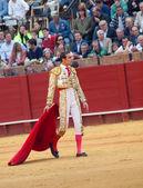 SEVILLA -MAY 20: Novilladas in Plaza de Toros de Sevilla. Novill — Stock Photo