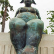 Modern statue of nude women with sense of humor in Andalusia. Sp - Stock Photo