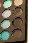 Eye shadows palette close-up — Stock Photo