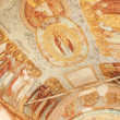 Antique wall byzantine fresco- monastery (Russia) — Stock Photo