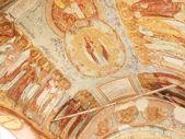 Antique wall byzantine fresco- monastery (Russia) — Stock Photo