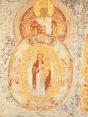 Antyczne fresk sufit z świętych klasztor (rosja, tichwin — Zdjęcie stockowe