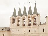Weergave van tichvin uspensky klooster, rusland — Stockfoto