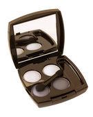 Grey and white make-up eyeshadows — Stock Photo