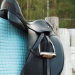 Stock Photo: Dressage saddle