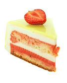 Cake with strawberry and lime isolated on white — Стоковое фото