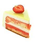 Torta con fresa y lima aislado en blanco — Foto de Stock