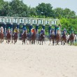 Stock Photo: PYATIGORSK,RUSSI- JULY 7: start of race for Big prize OaKS