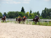 PYATIGORSK,RUSSIA - JULY 7: race for the mares Big prize OaKS o — 图库照片