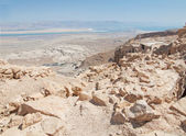 View of Dead Sea from fortress Masada, Israel — Stock Photo