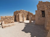 Ruins of Herods castle in fortress Masada, Israel — Stock Photo