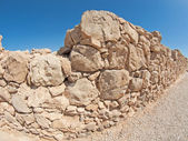 Wall of Herods castle in fortress Masada, Israel — Stock Photo