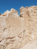 Mosaic in fortress Masada, Israel — Stock Photo