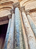 Columns of Main entrance of  Holy Sepulchre Church  in old city of Jerusalem — Stock Photo