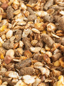 High quality natural sportive  muesli background. for horse. clo — Stock Photo