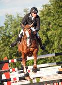 SAINT PETERSBURG-JULY 05: Rider Andrius Petrovas on Zuko S — Stock Photo