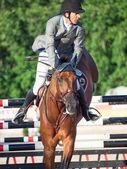 SAINT PETERSBURG-JULY 05: Rider Gunnar Klettenberg on Ulrike R — Stock Photo