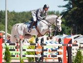 SAINT PETERSBURG-JULY 06: Rider Maxim Kryna on Challenger 37 — Stock Photo
