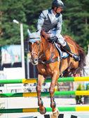 Sankt petersburg-juli 06: rider maxim kryna på clooney 26 — Stockfoto