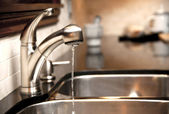 Kitchen faucet — Stock Photo