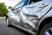 Car damaged in an accident — Stock Photo