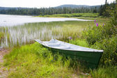 A boat at Lac Noel — Stock Photo