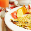 Omelet with mushrooms — Stock Photo