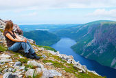 Gros Morne admiration — Stock Photo