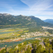 Howe Sound and Squamish town in Squamish town — Stock Photo #37989025