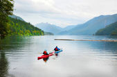 Kayaking on Crescent Lake — Stock Photo