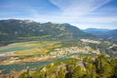Howe Sound and Squamish town in Squamish town — Stock Photo