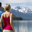 Couple at Duffey Lake — Stock Photo