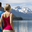 Stock Photo: Couple at Duffey Lake