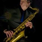 sassofonista — Foto Stock