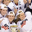 IIHF Women's World Championship Gold Medal match - Canada V USA — Stock Photo