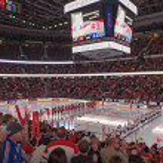IIHF Women's World Championship Gold Medal match - Canada V USA — Stock Photo