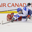 IIHF Women's World Championship Bronze Medal Game - Russia V Finland - Stock Photo