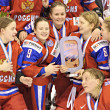 Stock Photo: IIHF Women's World Championship Bronze Medal Game - RussiV Finland