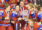 IIHF Women's World Championship Bronze Medal Game - Russia V Finland — Foto de Stock
