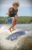 Wake Surfing — Stock Photo