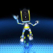 Robot Dancing to techno (loopable) - Stock Photo