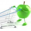 Apple shopping - 图库照片