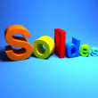 Soldes word from three-dimensional letters. - Stock Photo
