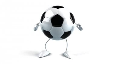 Soccer ball dancing — Wideo stockowe