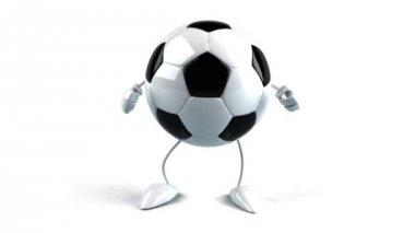 Fotbalový míč tanec — Stock video