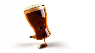 Hip-hop baile cerveza — Vídeo de stock