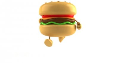 Hamburger running — Stock Video