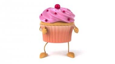 Cupcake dancing — Stock Video