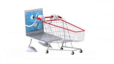Laptop shopping — Stock Video